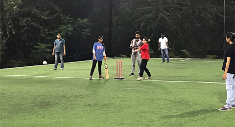 Showing our team spirit at Nethority Cricket League 04